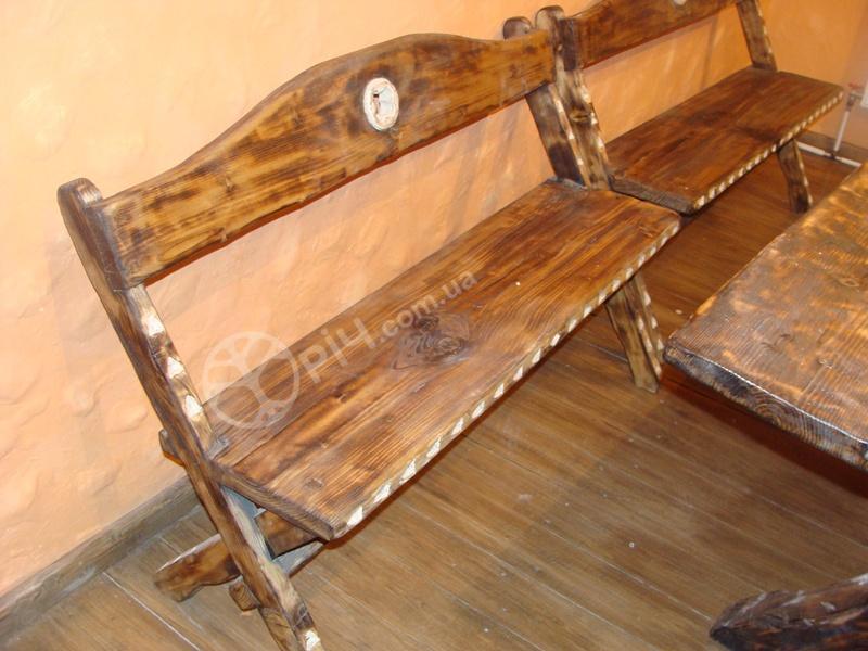 Стіл і лава з дерева меблі для кафе