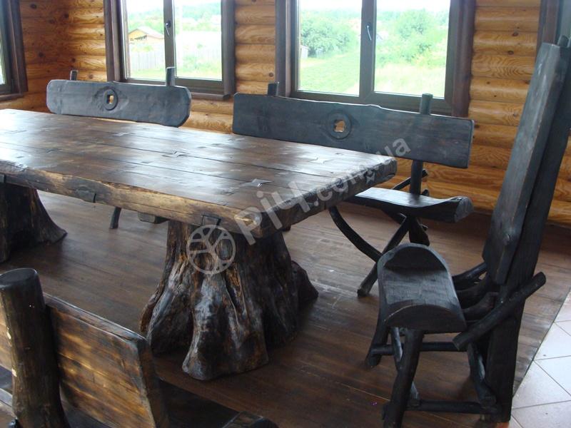 Стол деревянный под старину своими руками
