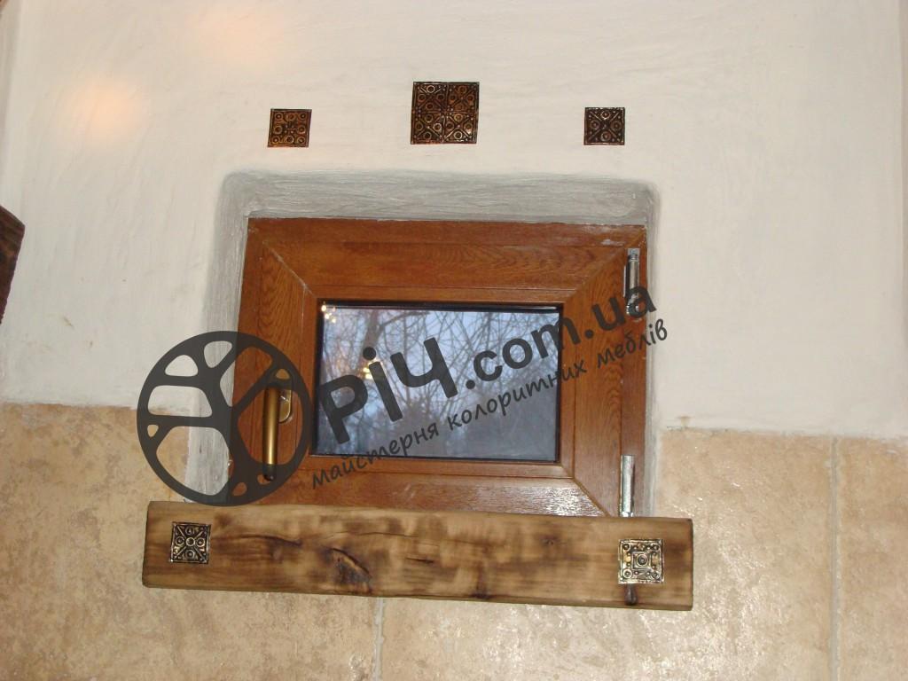 Кантрі стиль. Меблі для ванної кімнати з натурального дерева. чеканка по міді