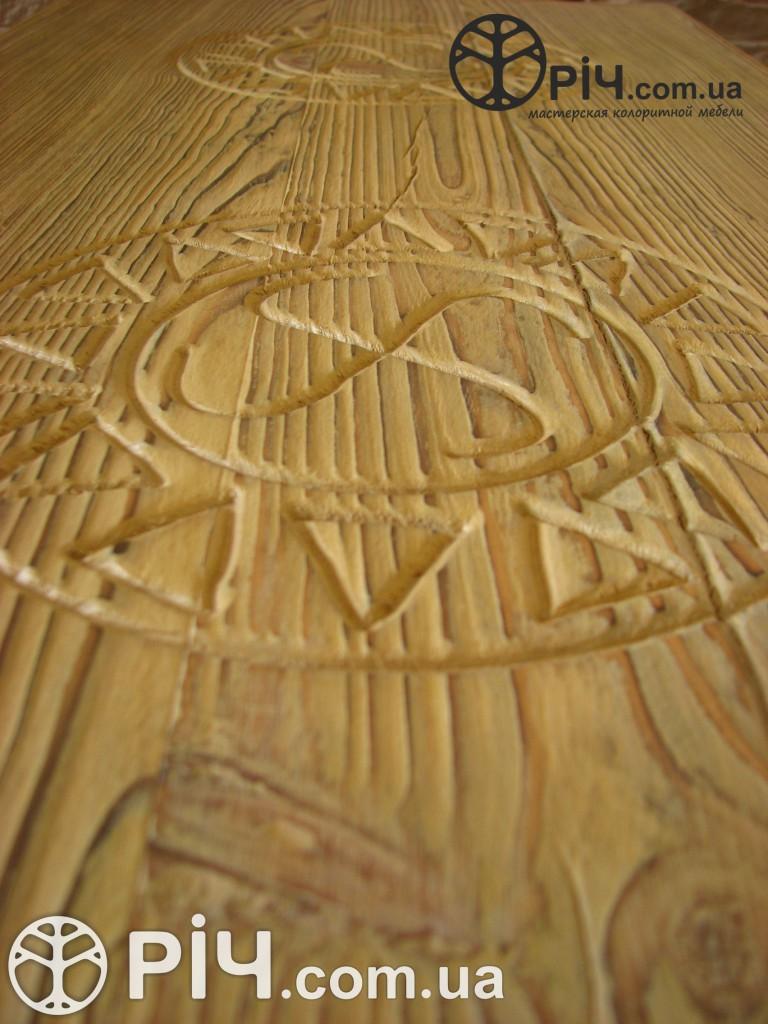 Скриня з дерева. Різблення. Меблі з сосни під старовину.