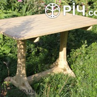 Деревянный стол под старину. Материал выжженная структурированная сосна.