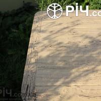 Деревянный стол под старину, фактура. Материал выжженная структурированная сосна.
