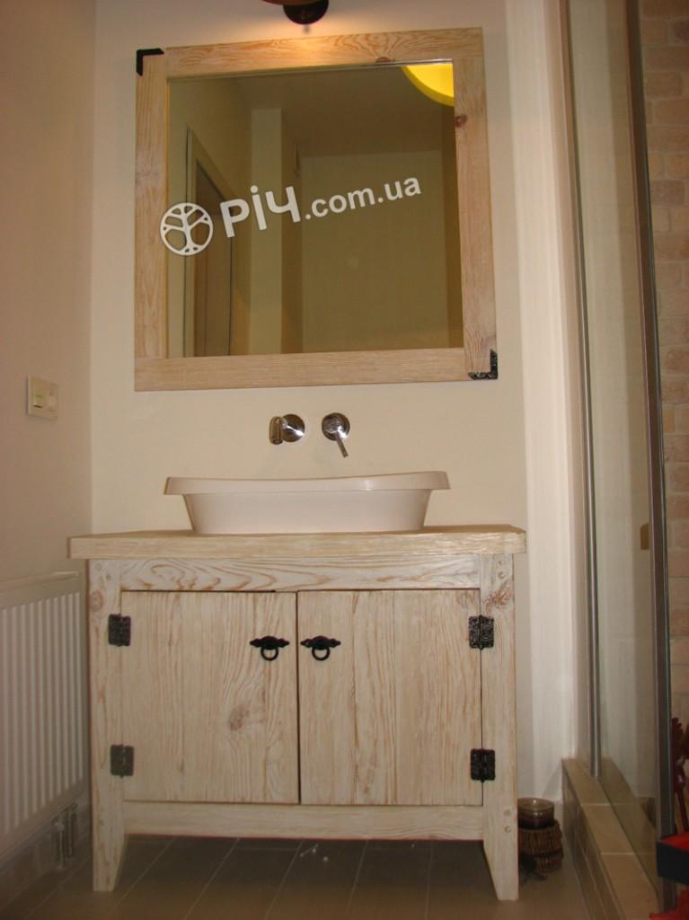 Меблі з дерева для ванної кімнати з структурованою сосни.